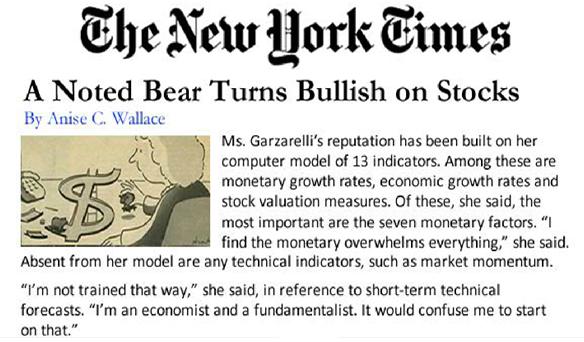 A noted bear turns bullish on stocks