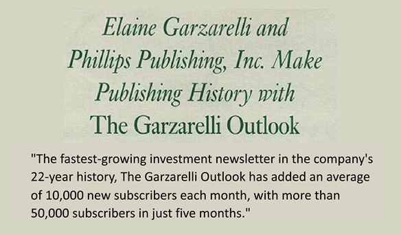 Elaine's Financial Newsletter Makes History