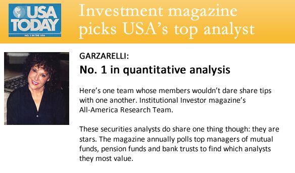 No 1. in quantitative analysis.